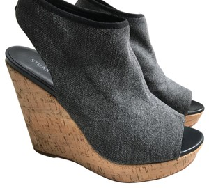 Stuart Weitzman Denim/dark blue grey Wedges