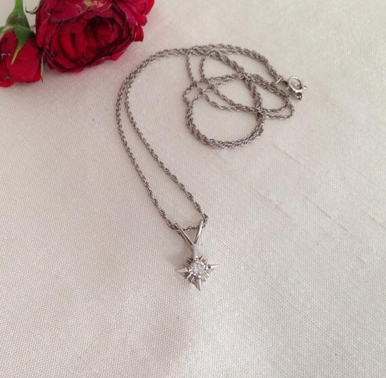 Other 14k White Gold Diamond Pendant Necklace.