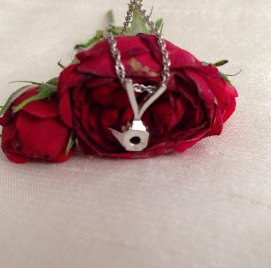 Other 14k White Gold Diamond Pendant Necklace. Image 3