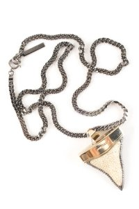 Givenchy Givenchy Silver Shark Tooth Necklace