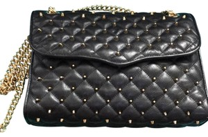 Rebecca Minkoff Quilted Gold Studs Cross Body Bag