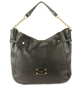 77be3d21604a Added to Shopping Bag. Michael Kors Shoulder Bag. Michael Kors Chain Black  Leather ...