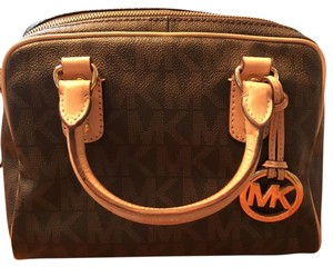Michael Kors Satchel in Brown with Gold hardware