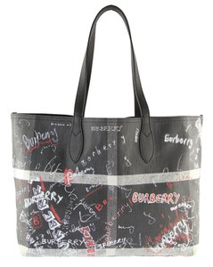 Burberry London Tote in Black/Red/White
