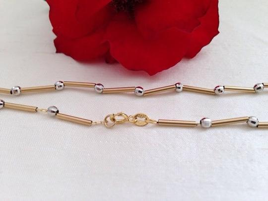 Other 14k White And Yellow Gold Necklace Italy.