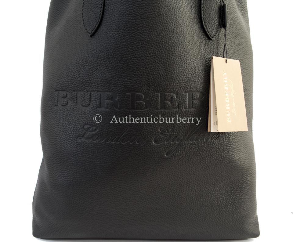 c8d6a081e2c6 Burberry London Medium Embossed Black Leather Tote - Tradesy