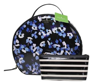 Kate Spade NEW!! TAGS FLORAL LARGE ZIP TOP HANDLE COSMETIC MAKEUP TRAVEL CASE BAG