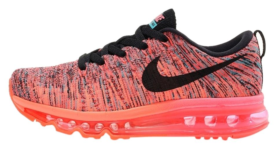 Nike Flyknit Air Max 20142015 In Box Hyper PunchBright MangoJade Black Women's Sneakers Size US 7 20% off retail