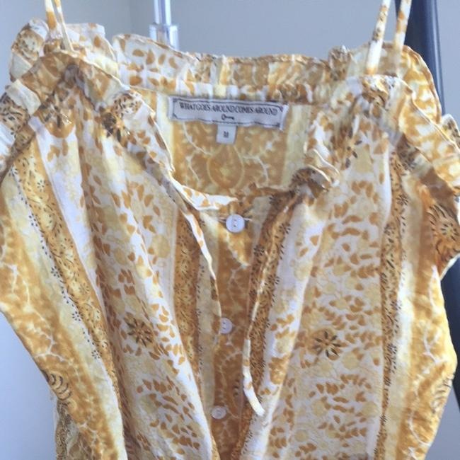 What Goes Around Comes Around short dress Yellow Gold White on Tradesy