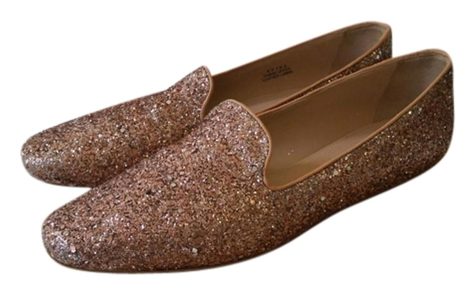 47d0d6d3266 J.Crew Glitter Darby Casual Nude Rose Gold Flats Image 0 ...