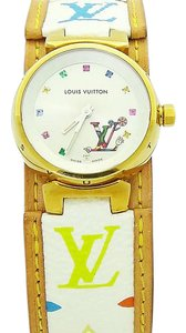 Louis Vuitton Rare Ladies Louis Vuitton Murakami Multicolore Hands Tambour Watch