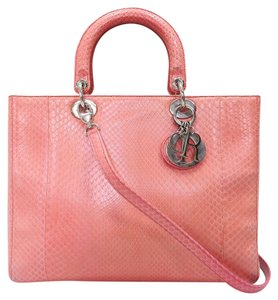 Dior Lady Python Large Satchel in pink