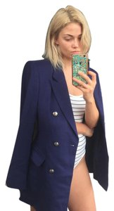 Escada Cashmere Blazer Royal Purple gold Buttons