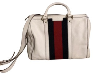 Gucci Satchel in red white and blue