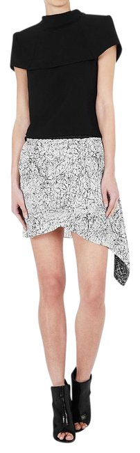 Item - White/Black Ouch Charlie Soft Tailored Skirt Size 10 (M, 31)