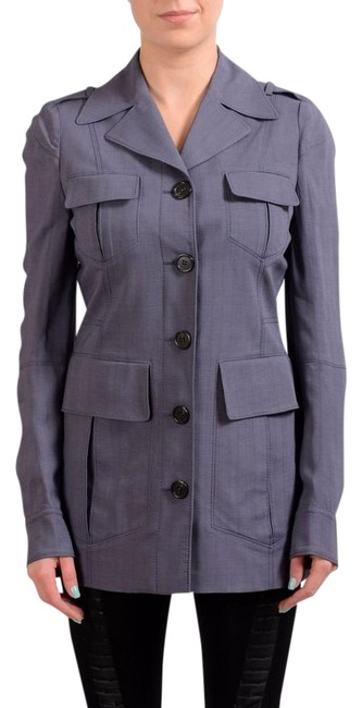 Item - Gray 1 Double Breasted Women's Basic Jacket Size 4 (S)
