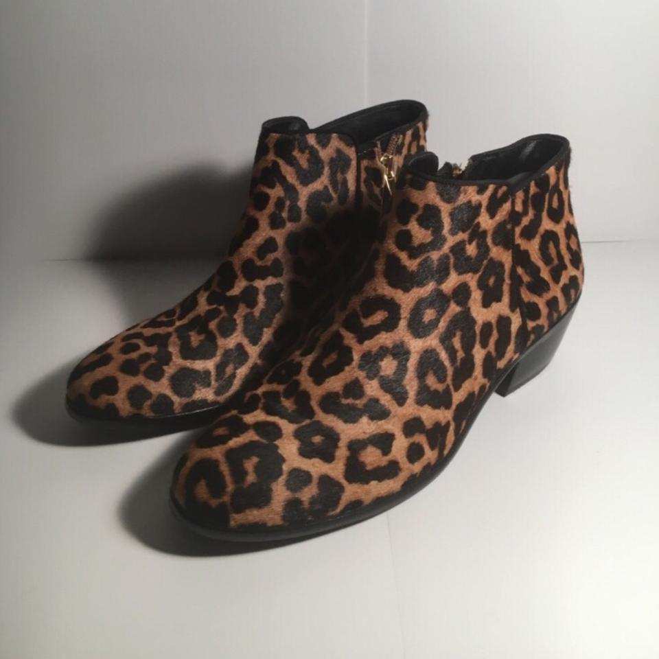 40b052c995a8c7 Sam Edelman Leopard Petty Boots Booties Size US 7 Regular (M