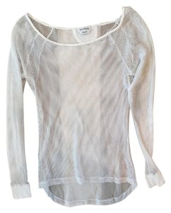 bebe Mesh Long Sleeve Fishnet Sweater