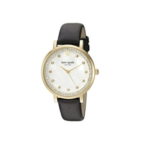 Kate Spade Kate Spade Women's gold-tone and black leather watch KSW1206