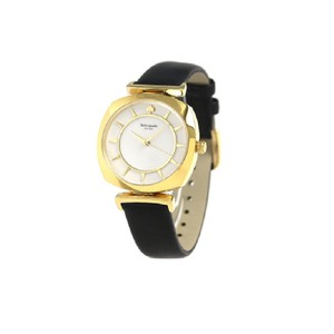 Kate Spade Kate Spade Women's Black Leather And Gold-tone Watch KSW1224