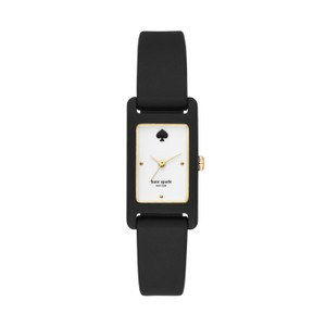 Kate Spade Kate Spade Women's Black Silicone Duffy Square Watch KSW1275