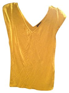 New York & Company T Shirt Mustard Yellow