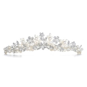 Mariell Silver With Freshwater Clusters 3318t Tiara