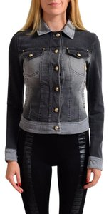 Versace Jeans Collection Gray Womens Jean Jacket