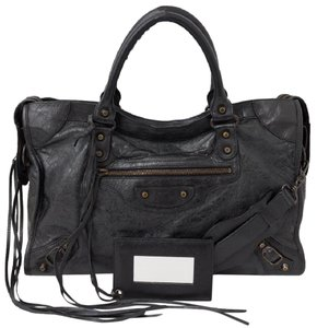 Balenciaga City Classic Studs Leather Shoulder Bag