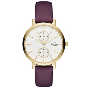 Kate Spade Kate Spade Women's Gold-tone And Purple Leather Monterey Watch KSW1334