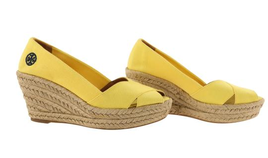 Tory Burch Yellow Wedges Image 1
