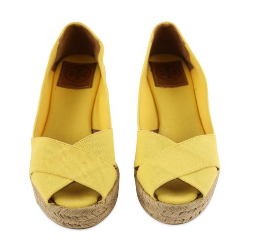Tory Burch Yellow Wedges Image 2
