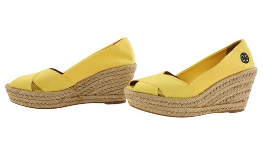 Tory Burch Yellow Wedges Image 4