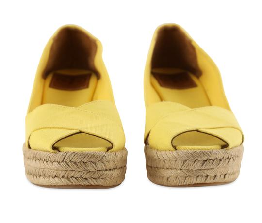 Tory Burch Yellow Wedges Image 5