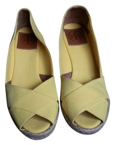 Tory Burch Summer Bright Yellow Wedges