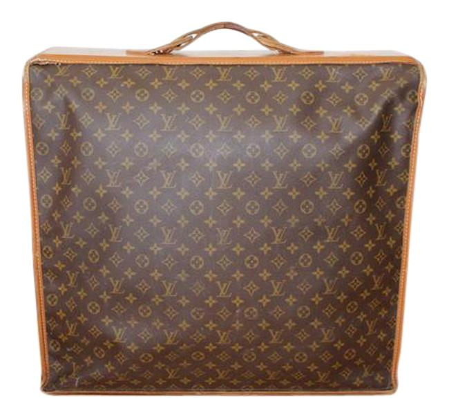 Item - Garment Cover Vintage Monogram Portable Bandouliere Brown and Tan Canvas Weekend/Travel Bag