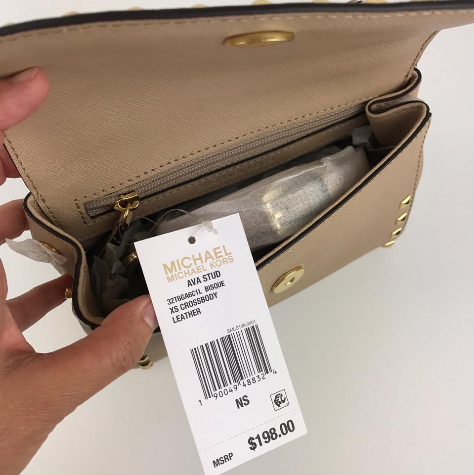 bc94fbe0e Michael Kors Ava Stud Extra Small/ Mini Crossbody Color- Bisque ...
