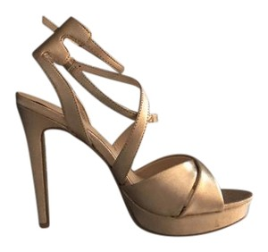 Chinese Laundry Strappy Metallic Evening Platform rose gold Sandals