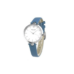 Kate Spade Kate Spade Women's Silver-tone And Blue Wash Leather Watch KSW1282
