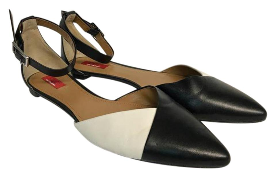 73b528f13cd7 Saks Fifth Avenue Black White Red and Leather D orsay B Flats. Size  US ...