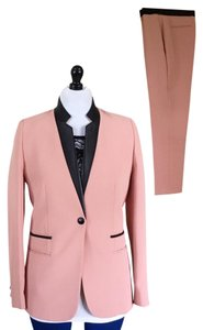 Sandro Voltage leather trim blazer pant suit