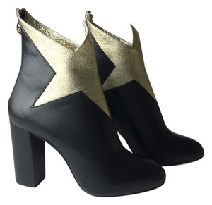 Charlotte Olympia black gold Boots