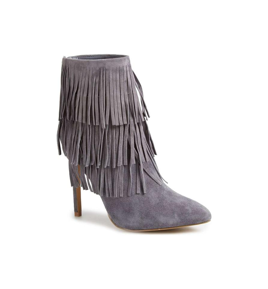 7fcc588fc85 Steve Madden Grey Flapper Fringe Ankle Boots/Booties Size US 9 Regular (M,  B) 72% off retail