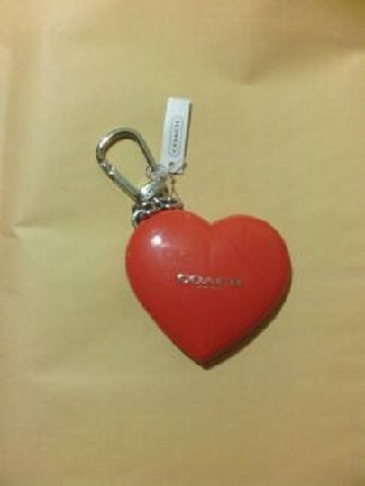 Coach Coach Red Heart-shaped 8g USB Flash Drive with Keychain