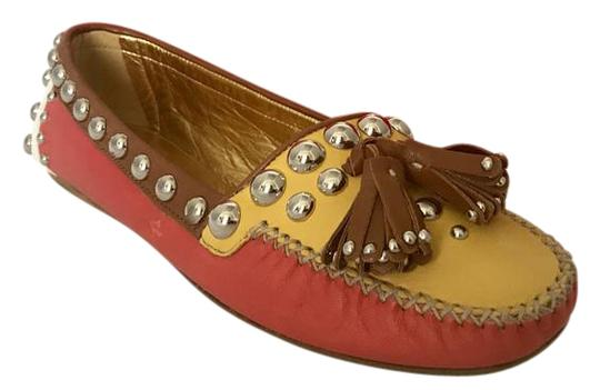 Preload https://img-static.tradesy.com/item/22017611/prada-brown-pink-yellow-white-soft-leather-multi-color-sz65-flats-size-us-65-narrow-aa-n-0-1-540-540.jpg