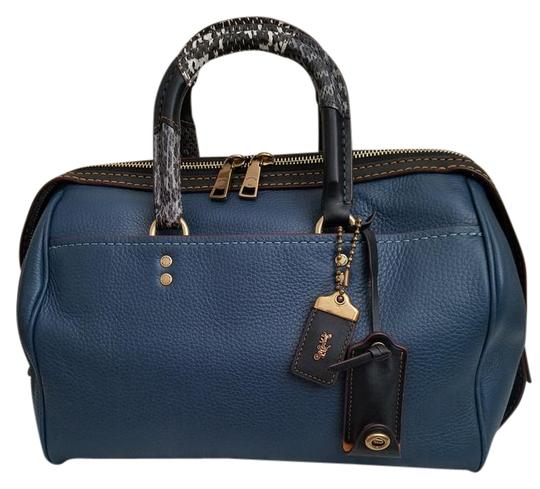 Preload https://img-static.tradesy.com/item/22017668/coach-1941-handle-rogue-denim-pebble-leather-with-exotic-snake-satchel-0-1-540-540.jpg