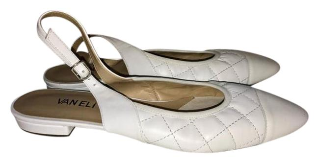 Vaneli White Quilted Leather Flats N Pumps Size US 10 Narrow (Aa, N) Image 1