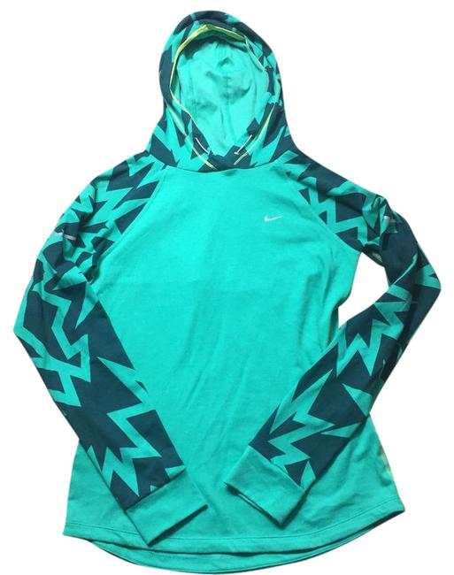 Preload https://img-static.tradesy.com/item/22017797/nike-green-hooded-vented-print-activewear-top-size-6-s-0-1-650-650.jpg