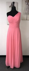 Bill Levkoff Coral Chiffon 491 / Casual Bridesmaid/Mob Dress Size 16 (XL, Plus 0x)