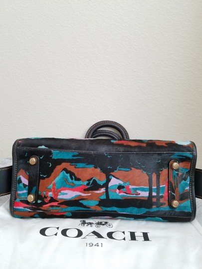 Coach 1941 Satchel in Black multi print